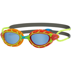 Zoggs Predator Gogle Dzieci, orange red/ grey green/tint